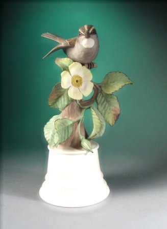 "22: A BOEHM SCULPTURE, "" White Throated Sparrow,"" U.S.A"
