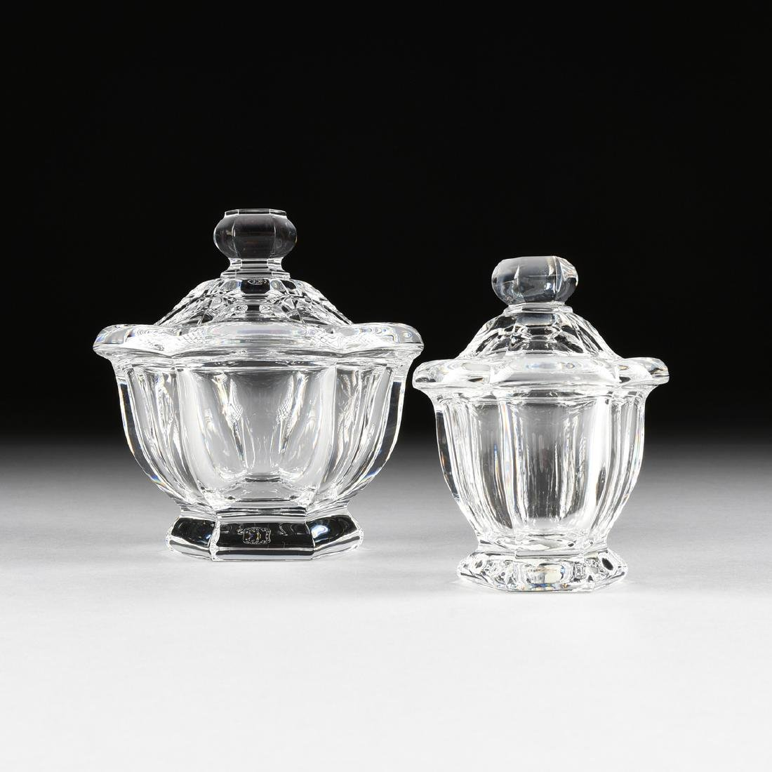 """A GROUP OF TWO BACCARAT CLEAR CRYSTAL """"HARCOURT"""