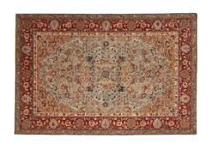 A FINE PERSIAN TABRIZ CARPET,