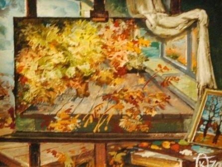 """1001: ANATOLIY KLIMENKO (Russian b. 1934) A painting, """""""