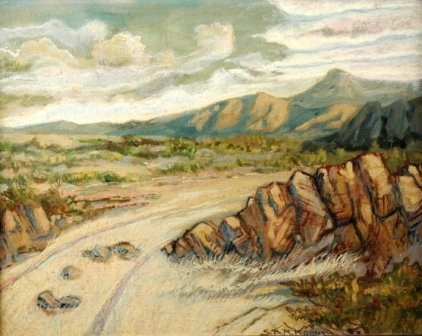 1013: S.B.R. KOONTZ (American/Texas 20th Century) A pai