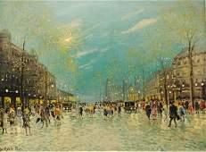 """ANTAL BERKES (Hungarian 1874-1938) A painting, """"P"""