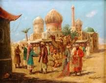 1231 CHARLES WOLFERT German 19th Century A painting