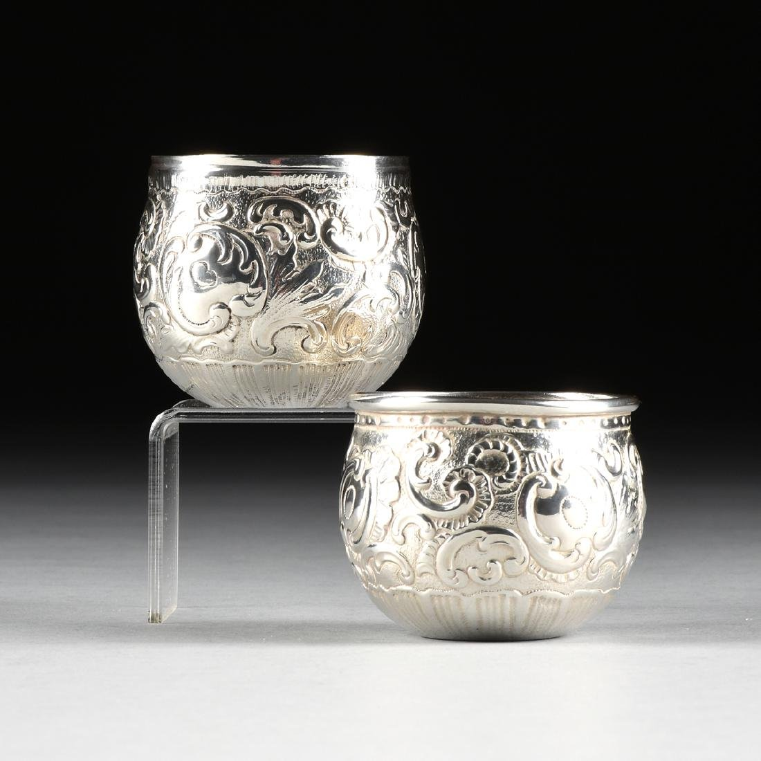 TWO SOUTH AMERICAN 900 STANDARD SILVER CUPS, POSSIBLY
