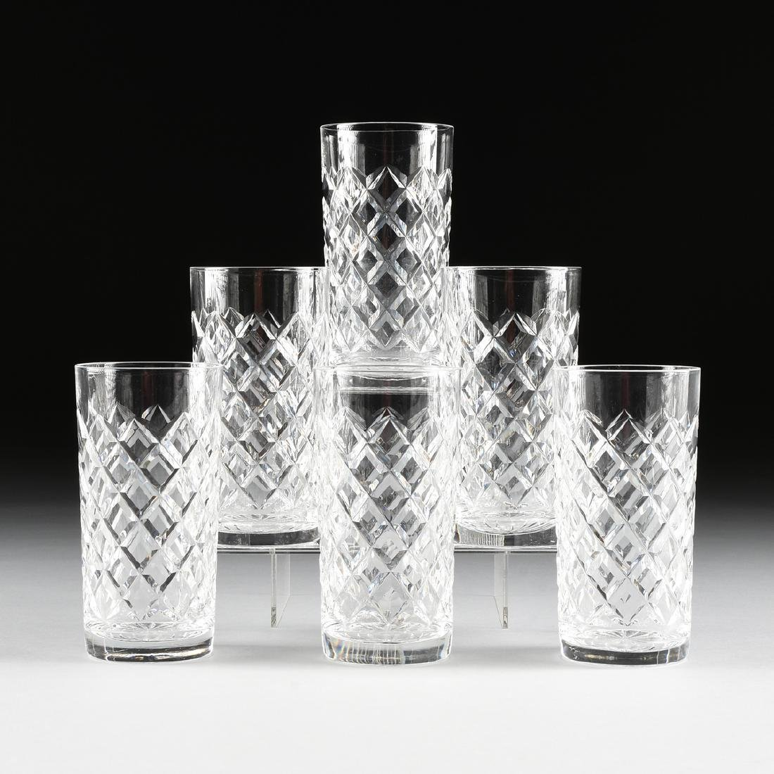 A SET OF SIX WATERFORD CUT CRYSTAL BARWARE COLLECTION