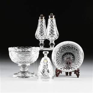 A GROUP OF FIVE WATERFORD CUT CRYSTAL ITEMS, IRELAND,