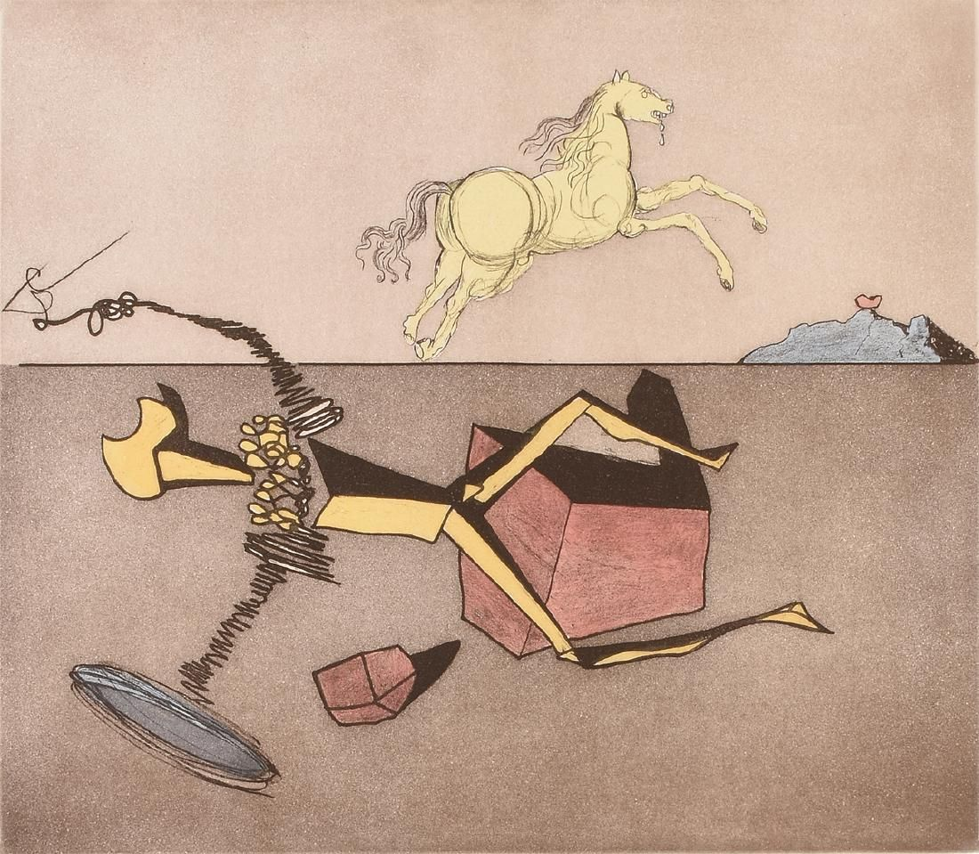 "SALVADOR DALI (Spanish 1904-1989) A LITHOGRAPH, ""Don"