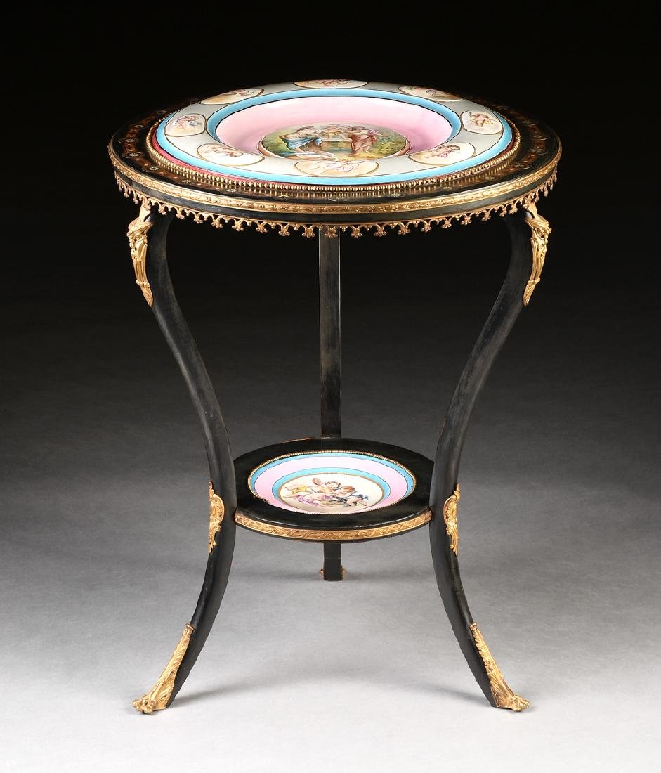 A CHOISY LE ROI BOULLE AND MOTHER-OF-PEARL INLAID
