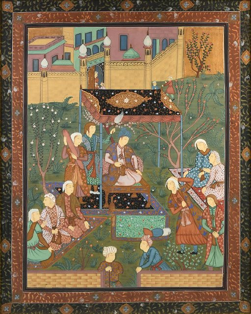 A PAINTING, PERSIAN, SAFAVID DYNASTY (1501-1736) STYLE,