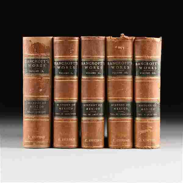 HUBERT HOWE BANCROFT (American 1832-1919) A SET OF FIVE