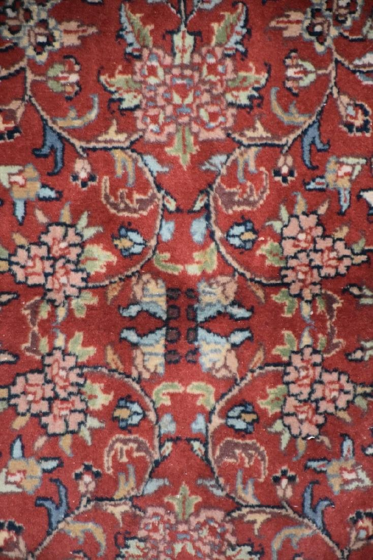 A SAROUK STYLE HAND KNOTTED WOOL RUG, INDIAN, MODERN, - 3