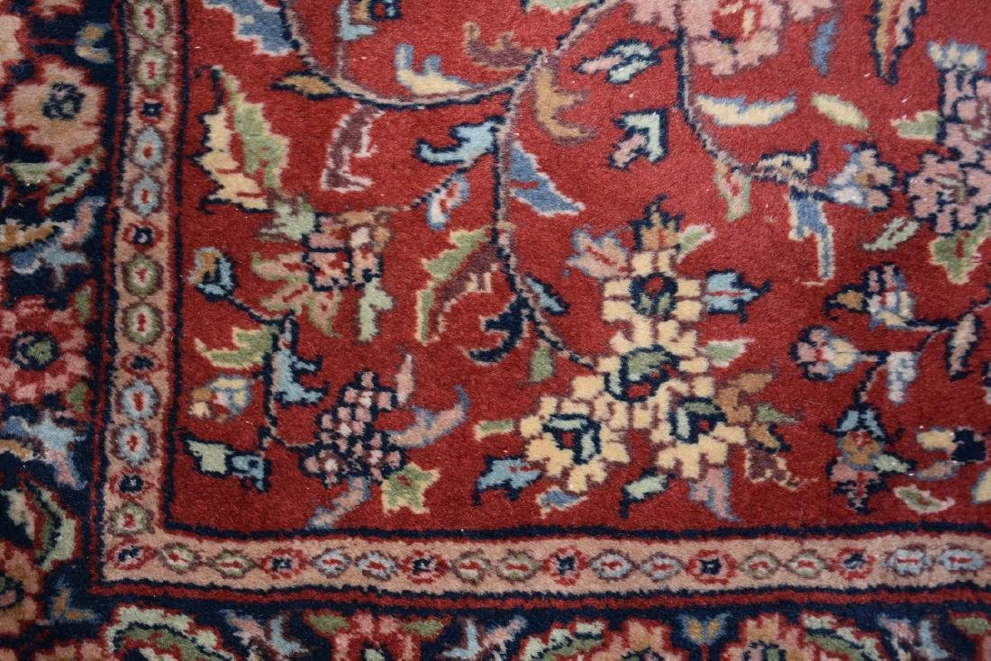 A SAROUK STYLE HAND KNOTTED WOOL RUG, INDIAN, MODERN, - 5