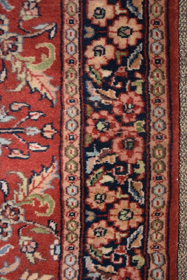 A SAROUK STYLE HAND KNOTTED WOOL RUG, INDIAN, MODERN, - 6