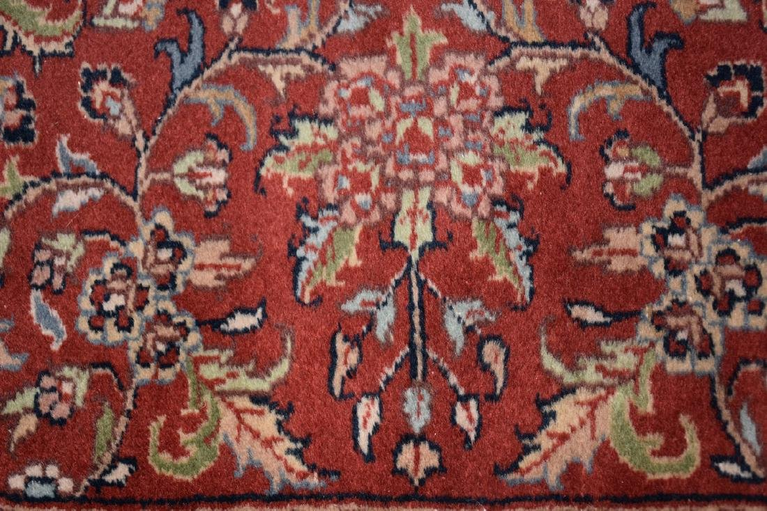 A SAROUK STYLE HAND KNOTTED WOOL RUG, INDIAN, MODERN, - 7