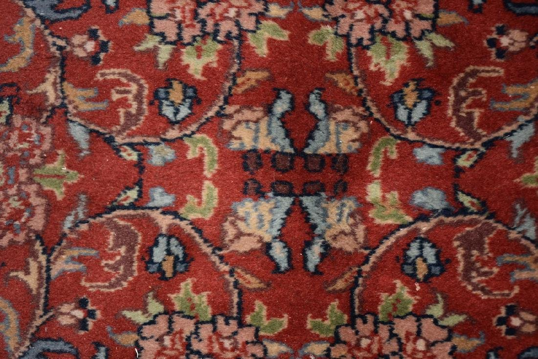A SAROUK STYLE HAND KNOTTED WOOL RUG, INDIAN, MODERN, - 8