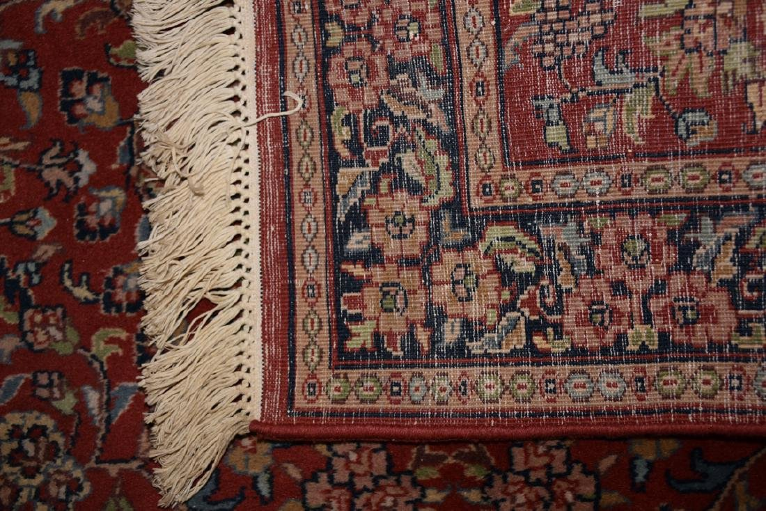 A SAROUK STYLE HAND KNOTTED WOOL RUG, INDIAN, MODERN, - 9