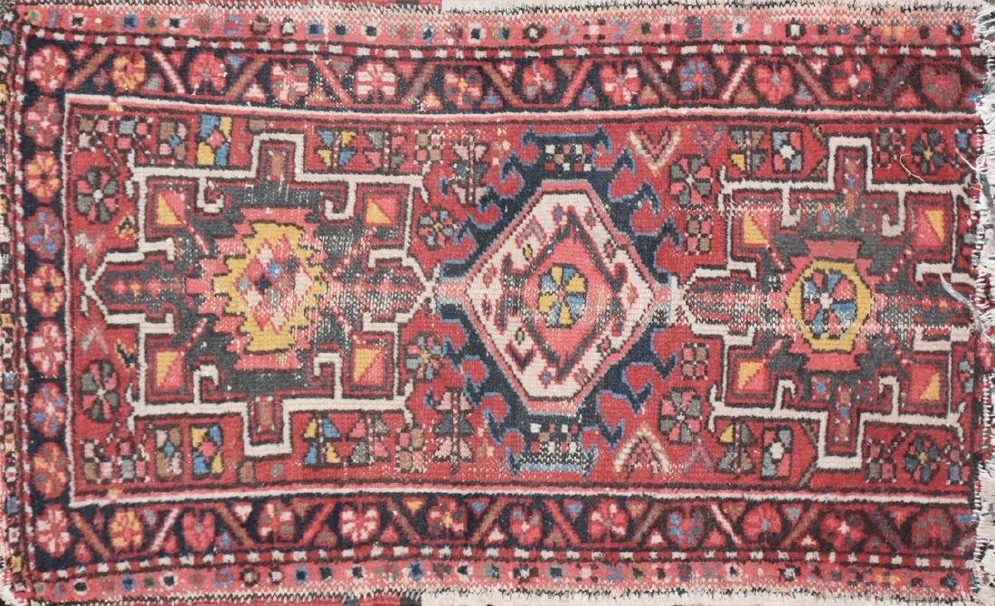 AN ANATOLIAN HAND KNOTTED WOOL MAT, TURKISH, CIRCA