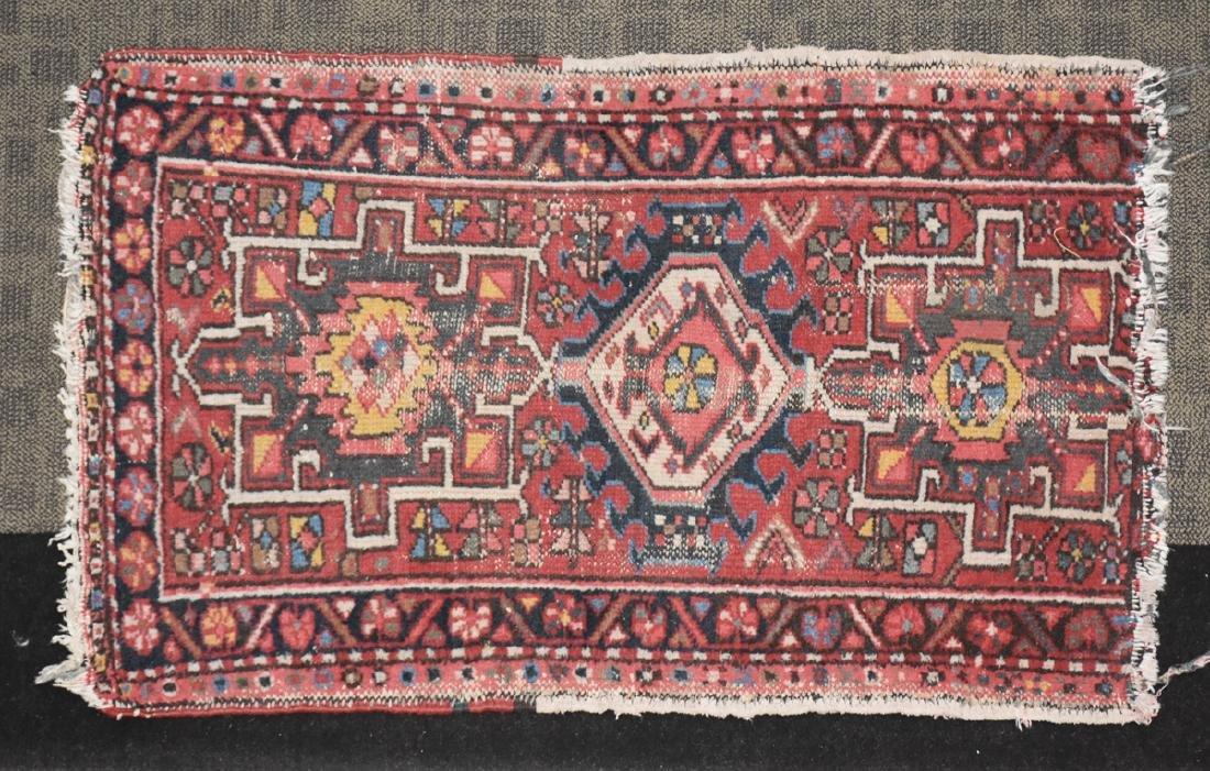 AN ANATOLIAN HAND KNOTTED WOOL MAT, TURKISH, CIRCA - 2
