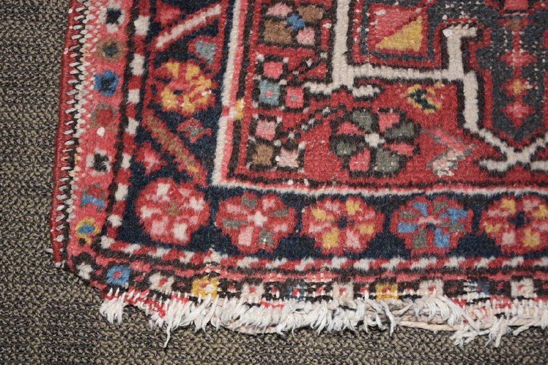 AN ANATOLIAN HAND KNOTTED WOOL MAT, TURKISH, CIRCA - 3