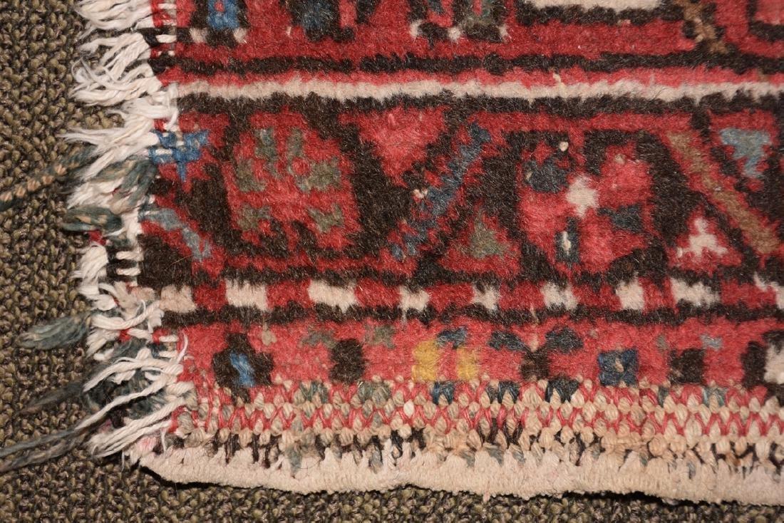AN ANATOLIAN HAND KNOTTED WOOL MAT, TURKISH, CIRCA - 7