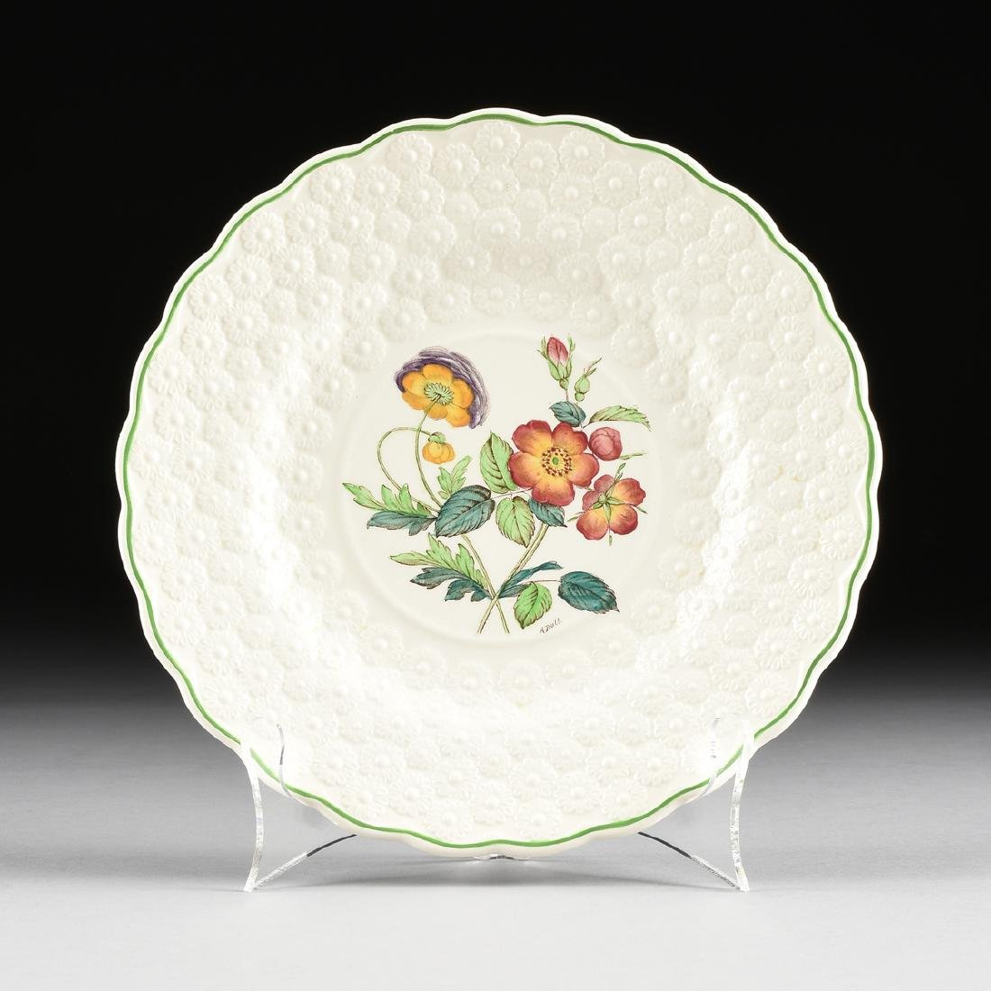 A SET OF SEVEN COPELAND SPODE TRANSFER PRINTED LUNCHEON