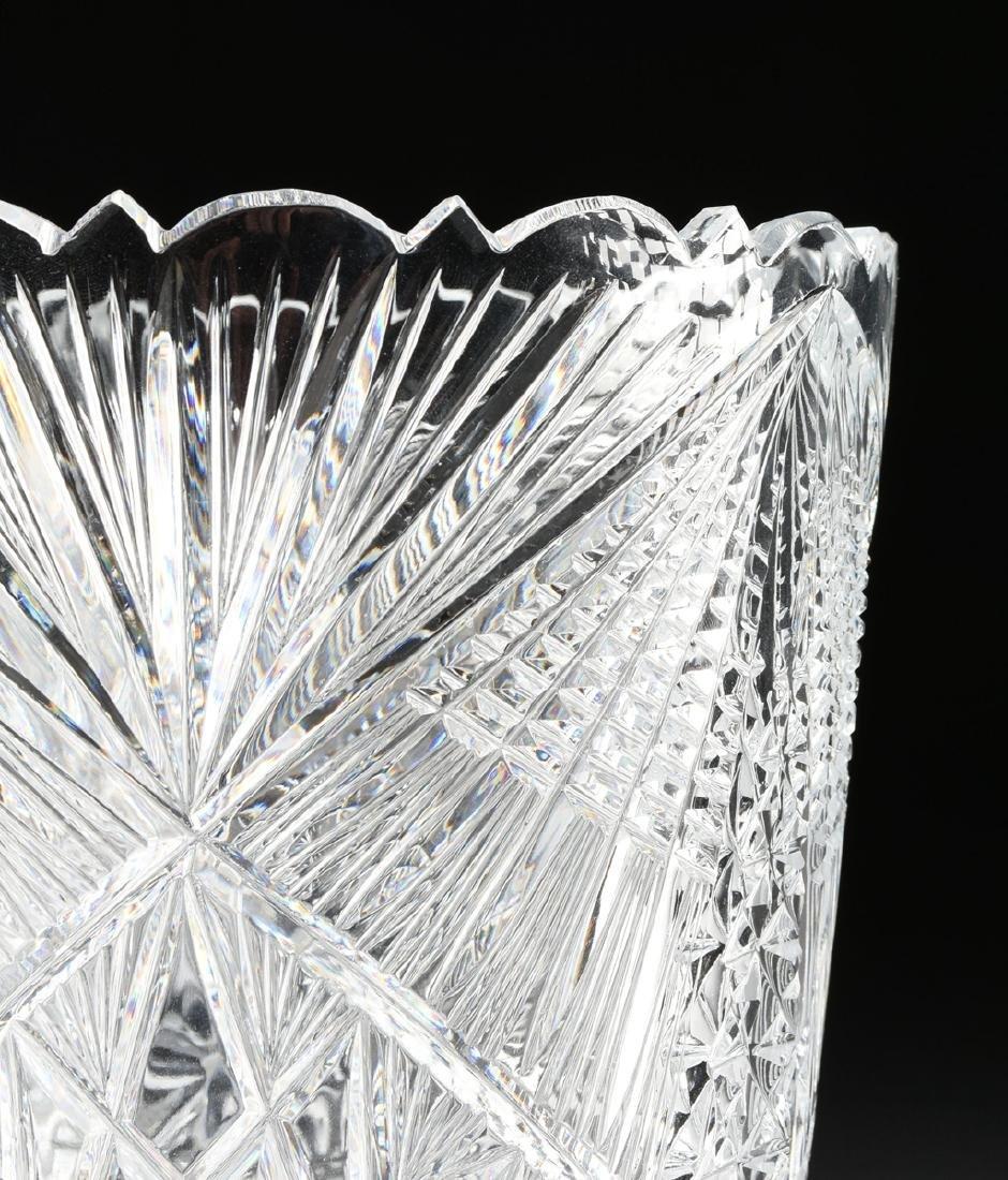 A NEAR PAIR OF AMERICAN BRILLIANT CUT GLASS WHEAT - 2
