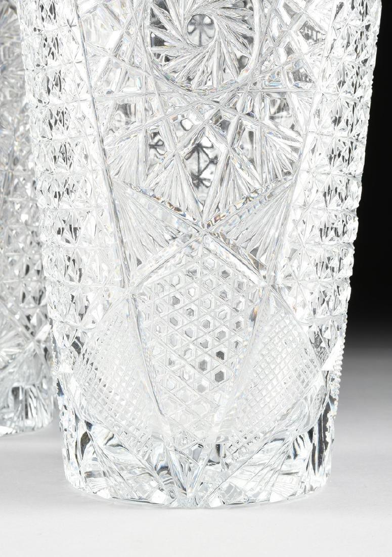 A NEAR PAIR OF AMERICAN BRILLIANT CUT GLASS WHEAT - 4