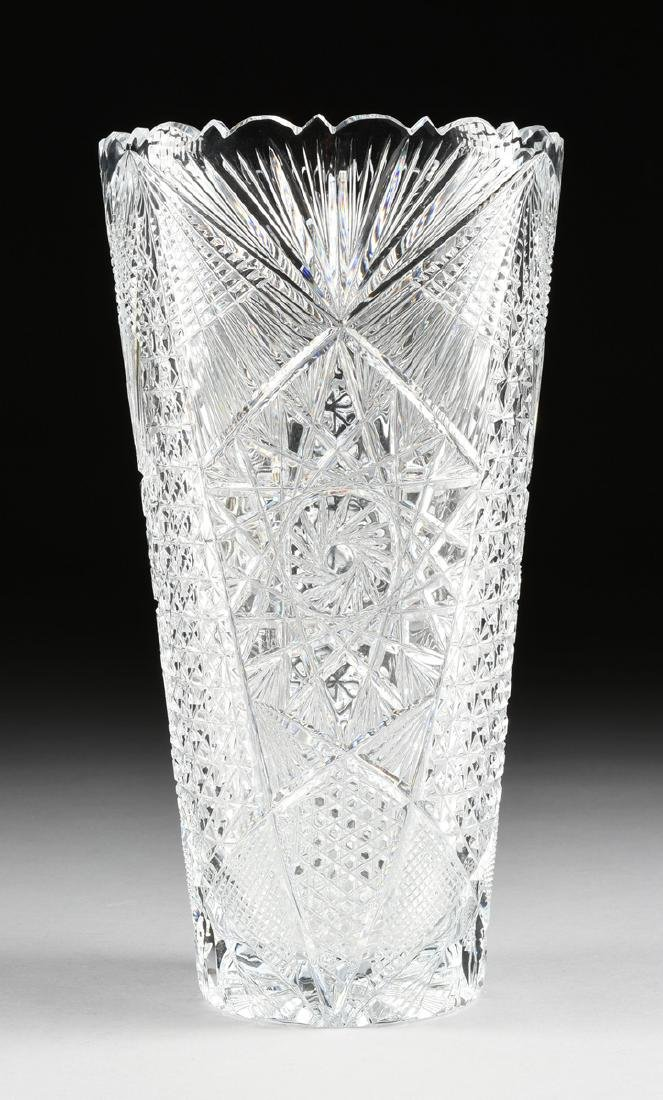 A NEAR PAIR OF AMERICAN BRILLIANT CUT GLASS WHEAT - 5