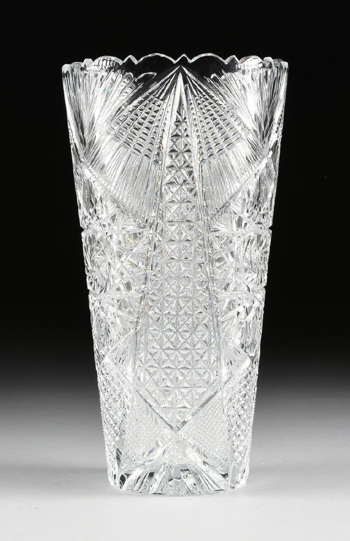 A NEAR PAIR OF AMERICAN BRILLIANT CUT GLASS WHEAT - 6