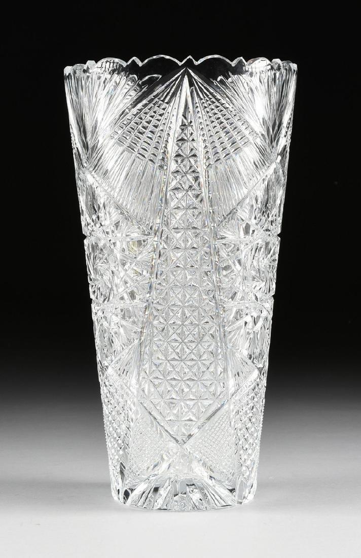 A NEAR PAIR OF AMERICAN BRILLIANT CUT GLASS WHEAT - 6