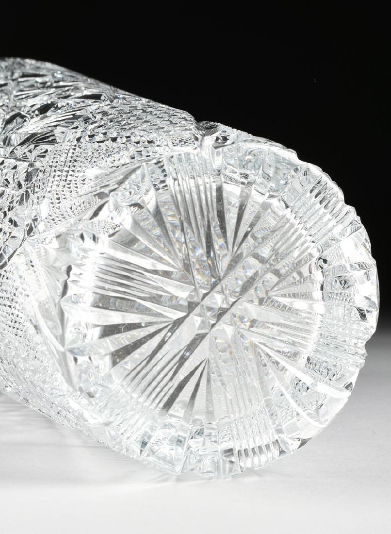A NEAR PAIR OF AMERICAN BRILLIANT CUT GLASS WHEAT - 8