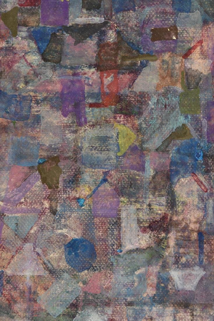 """AMERICAN SCHOOL (20th Century) A PAINTING, """"Rooftops,"""" - 3"""