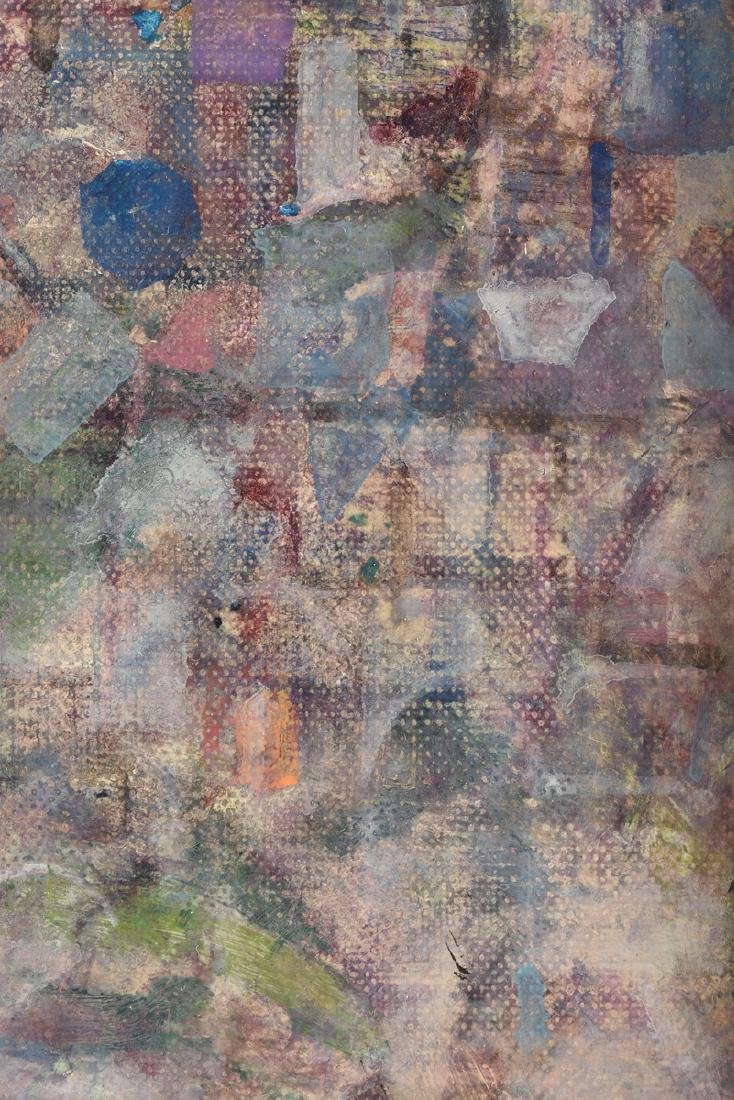 """AMERICAN SCHOOL (20th Century) A PAINTING, """"Rooftops,"""" - 7"""