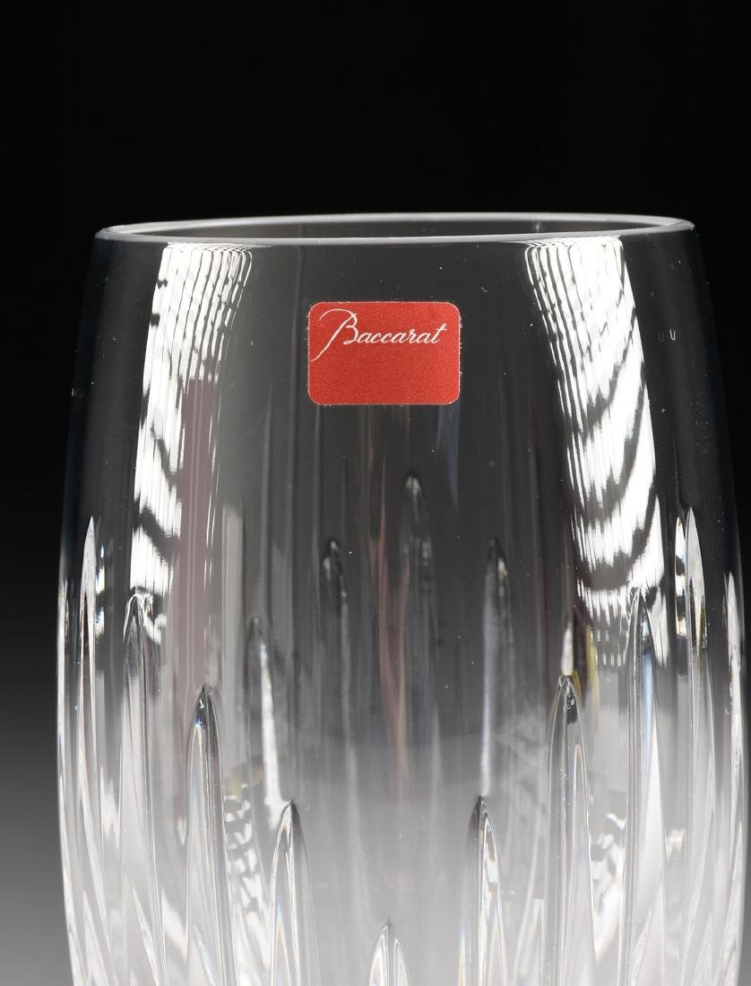 A SET OF FOUR CASED BACCARAT CUT CRYSTAL HIGH BALL - 4