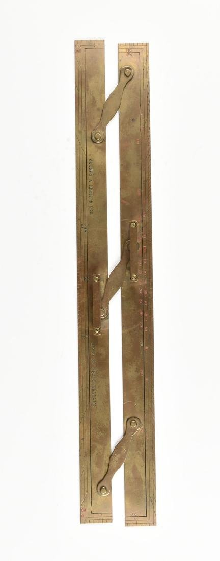 A GROUP OF TWO MARITIME BRASS NAVIGATION INSTRUMENTS, - 2