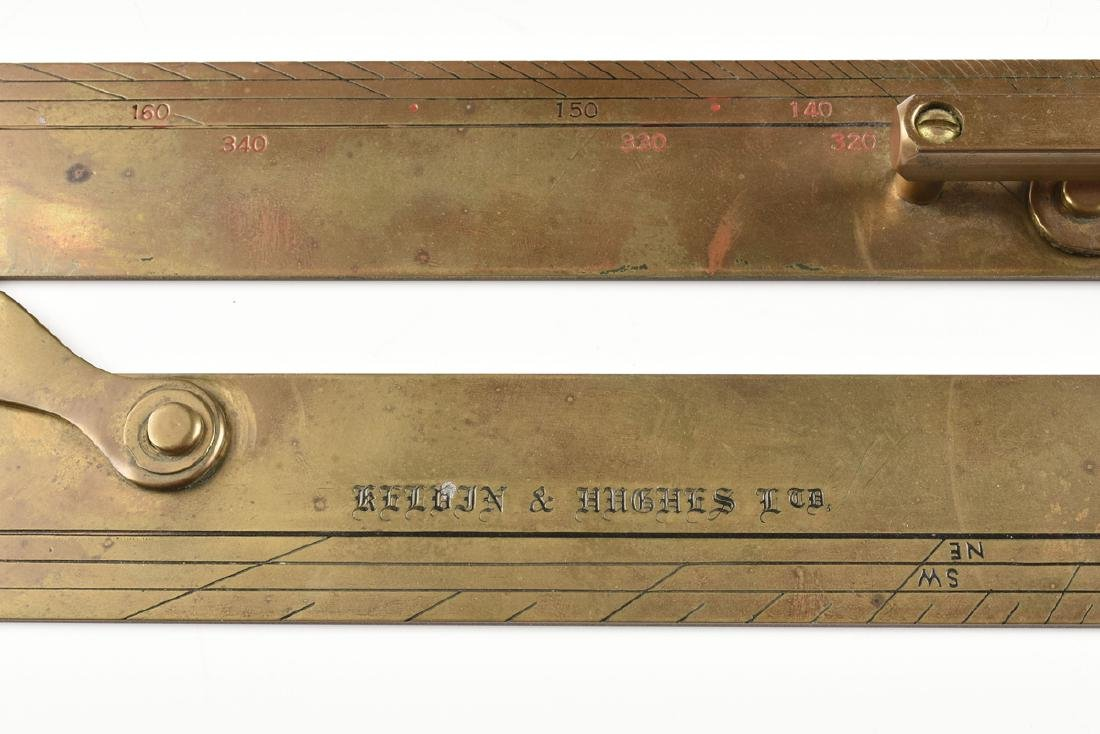 A GROUP OF TWO MARITIME BRASS NAVIGATION INSTRUMENTS, - 3