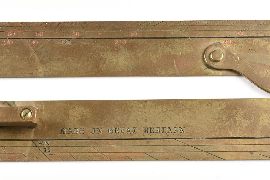 A GROUP OF TWO MARITIME BRASS NAVIGATION INSTRUMENTS, - 4