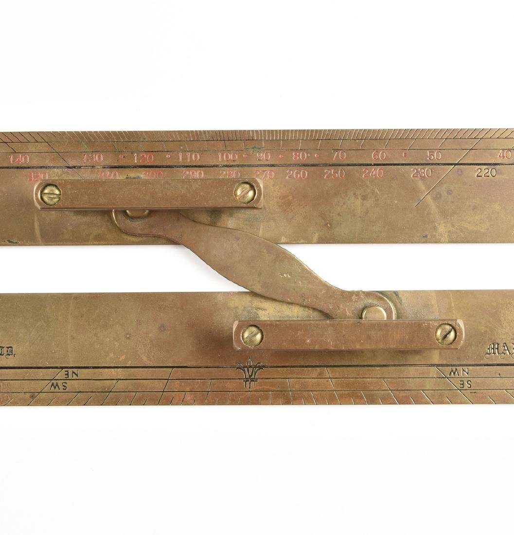 A GROUP OF TWO MARITIME BRASS NAVIGATION INSTRUMENTS, - 6