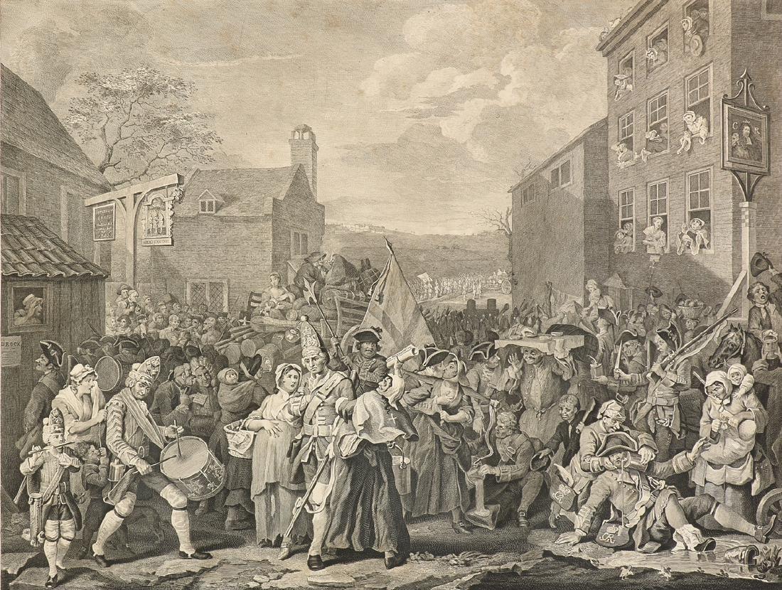 WILLIAM HOGARTH (English 1697-1764) A COPPERPLATE