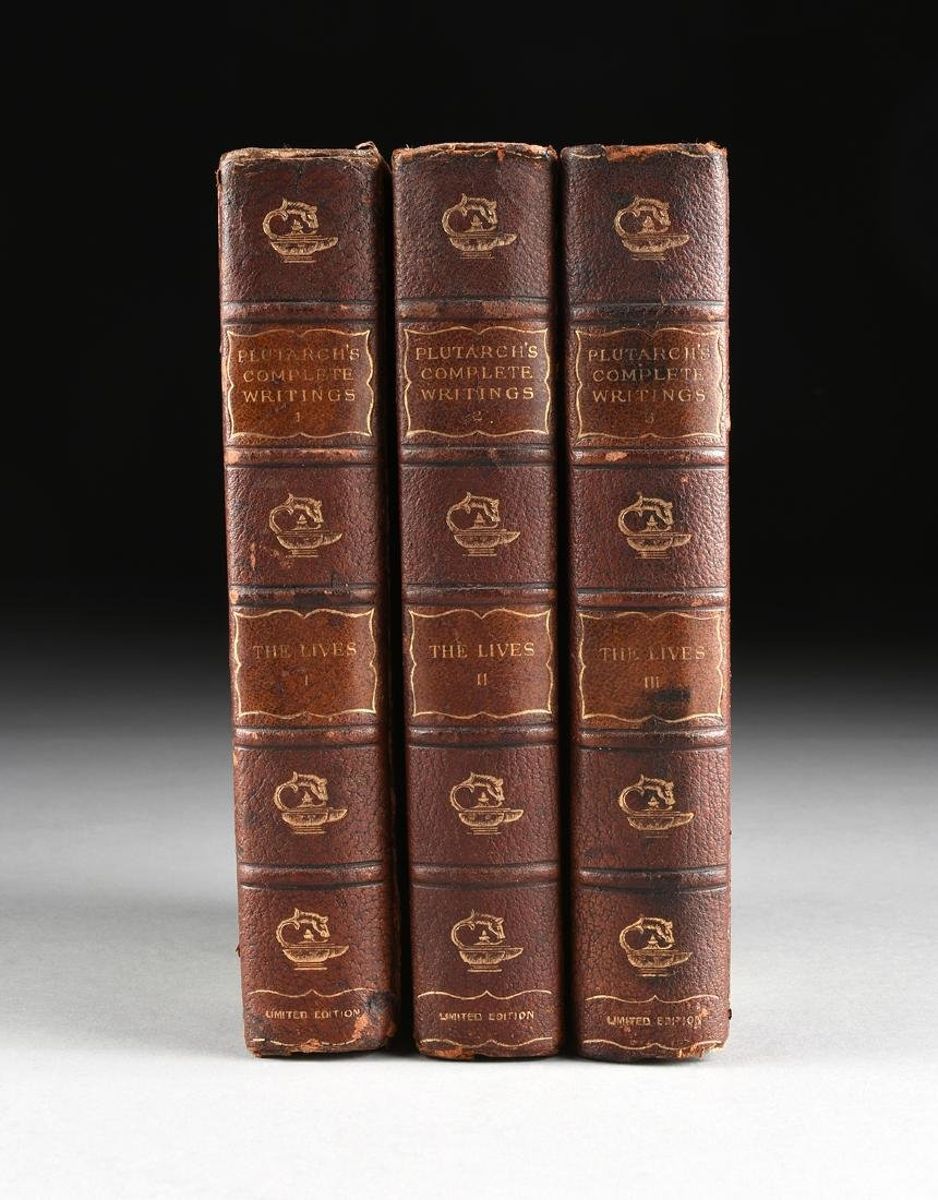 """PLUTARCH (AD 46- 120) THREE BOOKS, """"The Complete"""