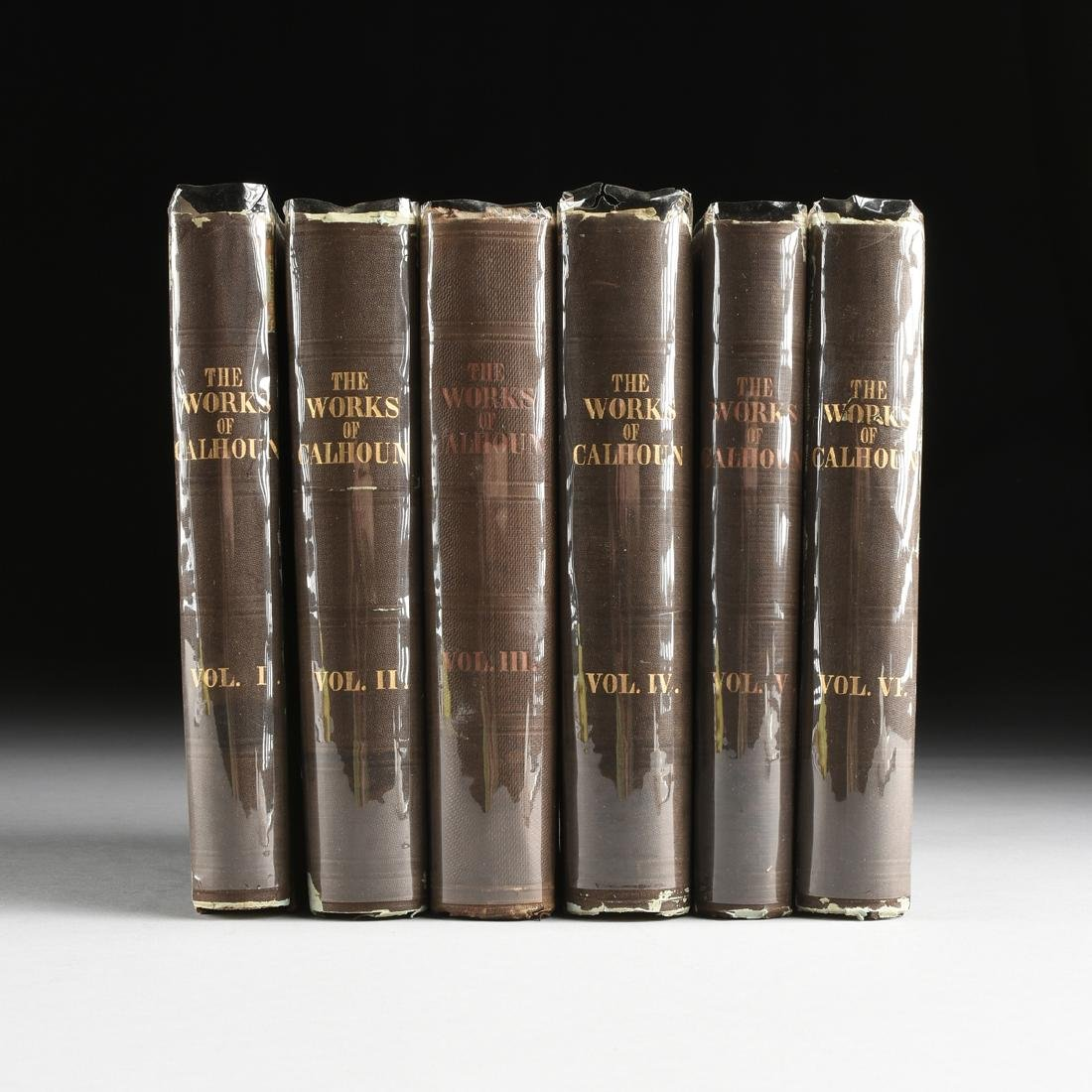 "CALHOUN, JOHN C. (1782-1850) SIX BOOKS, ""The Works of"