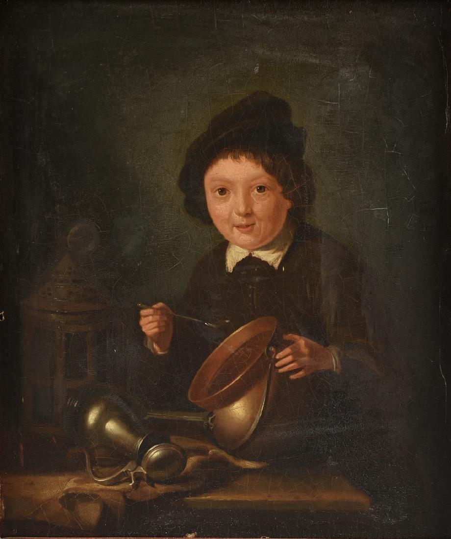 "DUTCH SCHOOL (19th Century) A PAINTING, ""Portrait of a"