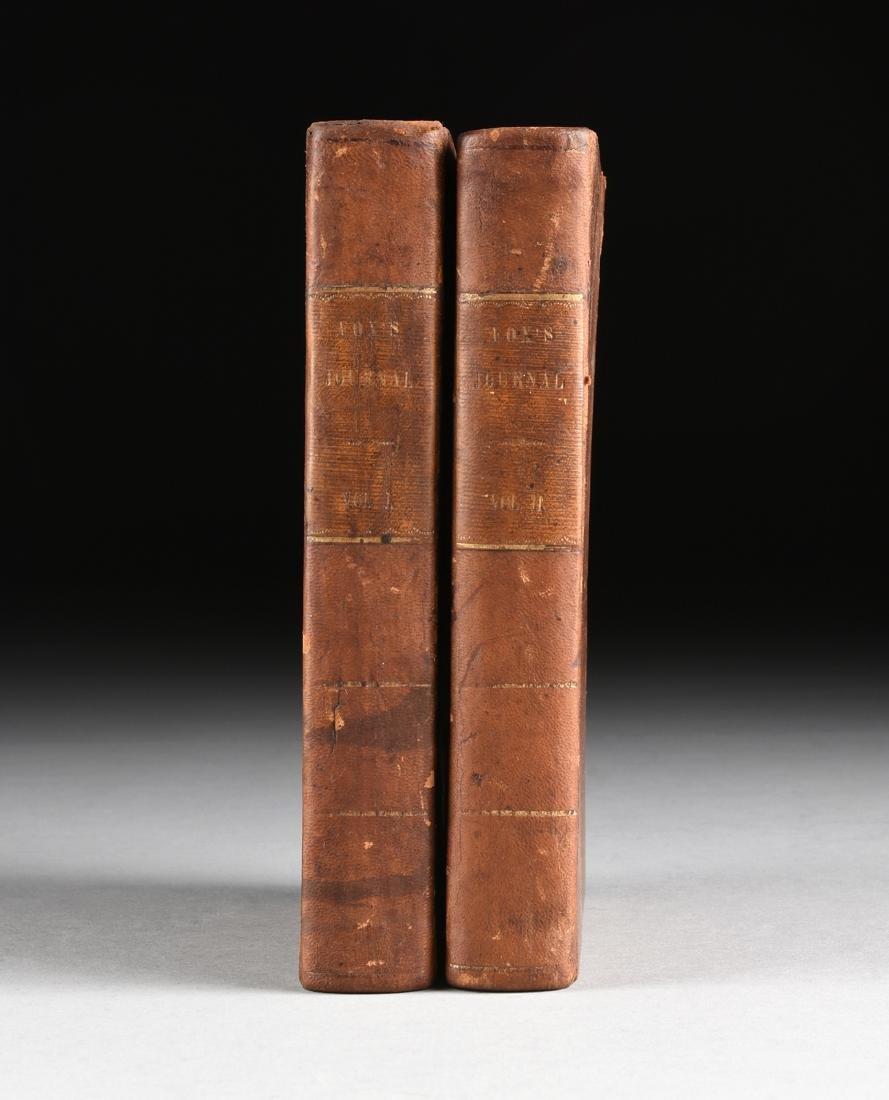 "GEORGE FOX (1624-1691) TWO VOLUES, 1808, ""Journal or"