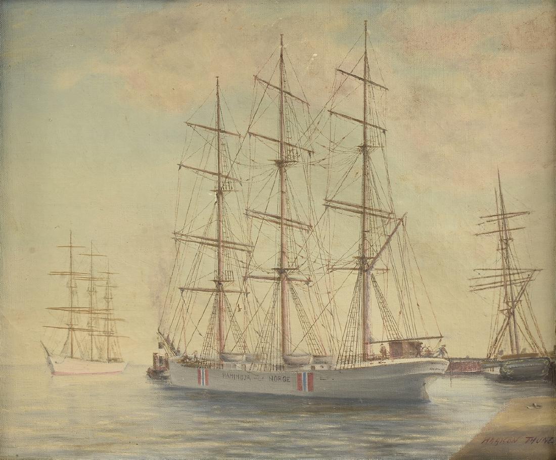 HAAKON THUNE (Norwegian 19th Century) A PAINTING,