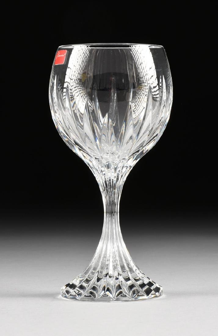 A SET OF FOUR BACCARAT CUT CRYSTAL TALL WATER GOBLETS - 2