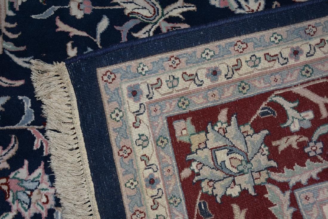 A SAROUK STYLE HAND KNOTTED WOOL RUG, INDO-PAKISTANI, - 10