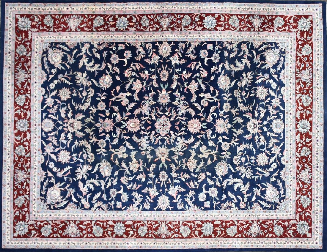 A SAROUK STYLE HAND KNOTTED WOOL RUG, INDO-PAKISTANI,