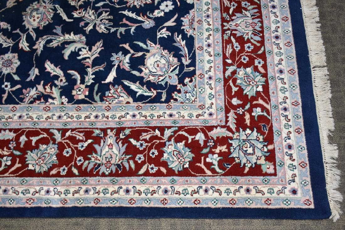 A SAROUK STYLE HAND KNOTTED WOOL RUG, INDO-PAKISTANI, - 3