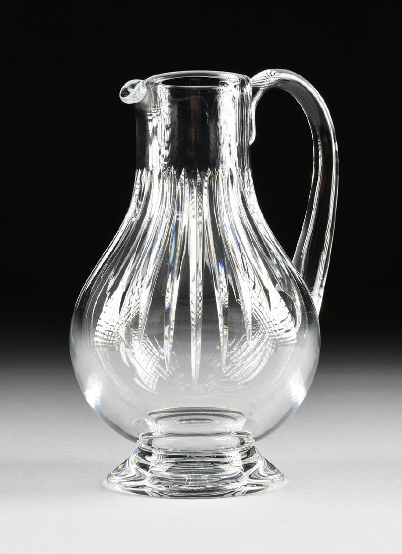 A GROUP OF TWO BACCARAT CUT CRYSTAL VESSELS IN THE - 2