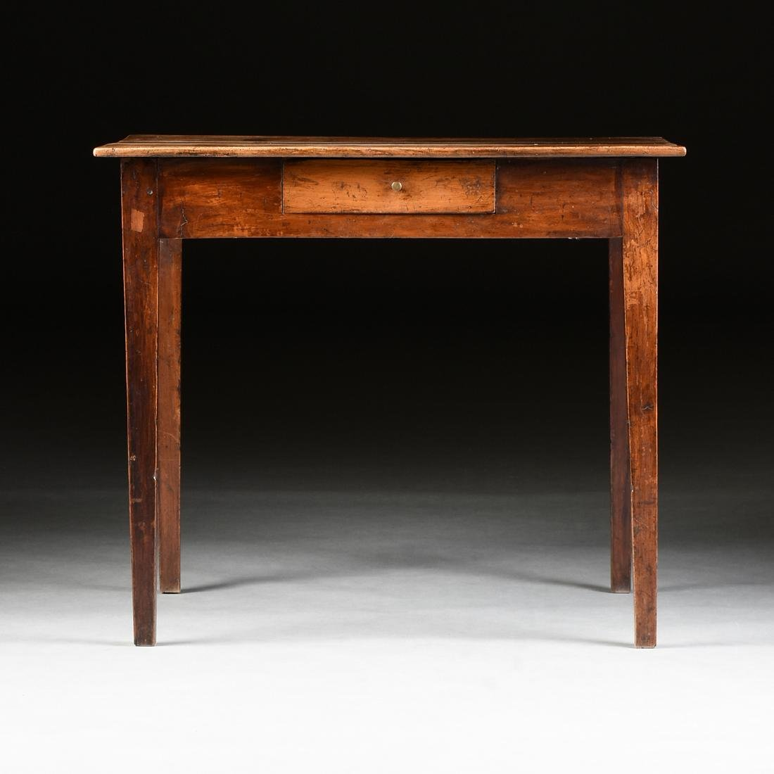 AN VERNACULAR FRUITWOOD KITCHEN TABLE, POSSIBLY